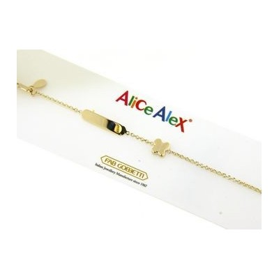 braccialetto bimbo in oro Alice e Alex AA2