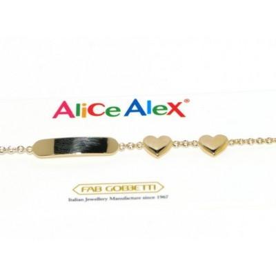 Braccialetto bimbo in oro Alice e Alex AA3