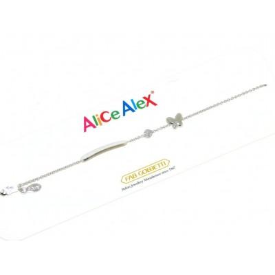 alice e alex bracciale bimbo in oro bianco AA5