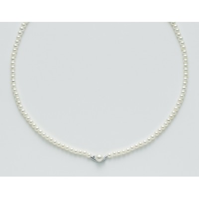 MILUNA collana perle e diamante PCL1440