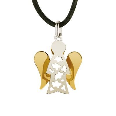 Giannotti ciondolo angelo oro bianco e giallo pz606