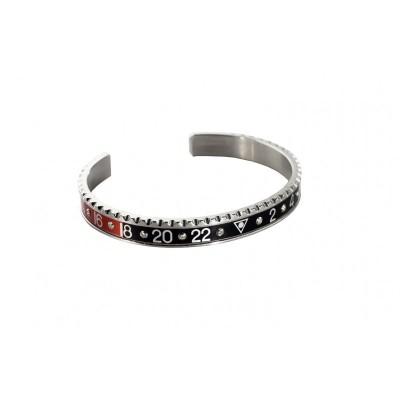 Speedometer official bracciale steel rosso e nero con diamanti