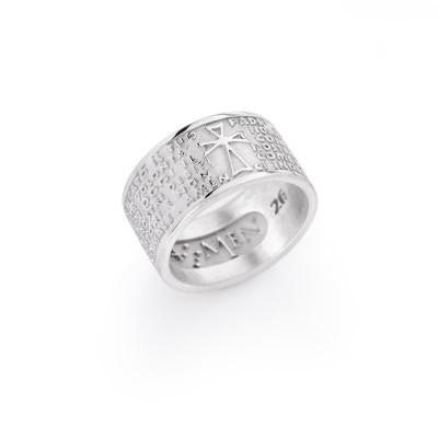 Amen anello con padre nostro in argento