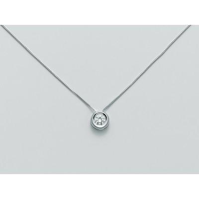 Miluna collana punto luce in oro con diamante CLD3924_007S