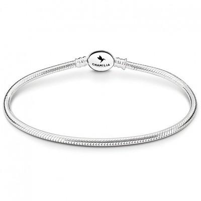 Chamilia bracciale in argento oval snap