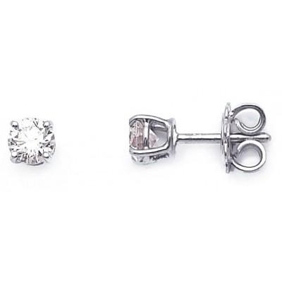 orecchini solitari diamante