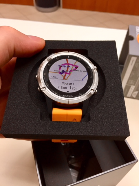 Orologio Garmin Fenix 5 plus titanium and orange